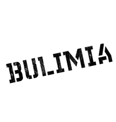 Bulimia rubber stamp vector