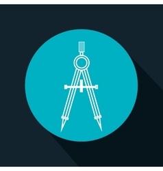 cartoon compass school tool design vector image