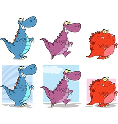 Cartoon dinosaur designs vector