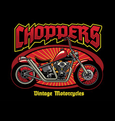 Chopper motorcycle vintage vector