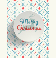 christmas greeting card vintage style vector image