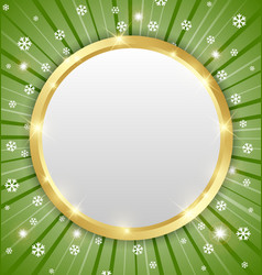 Christmas winter plaque vector