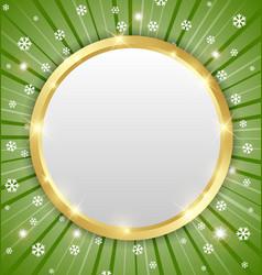 Christmas winter plaque vector image