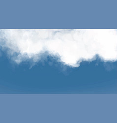 cloudy winter sky template full screen background vector image