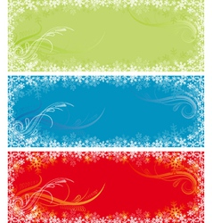 color christmas background vector image