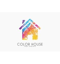 Creative house logo Color house design Home logo vector image