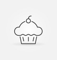 cupcake concept icon cup cake line vector image