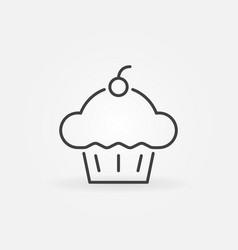 Cupcake concept icon cup cake line vector