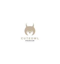 Cute head owl little logo icon design vector