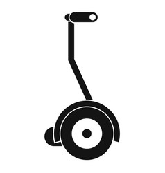 Electrical self balancing scooter icon vector