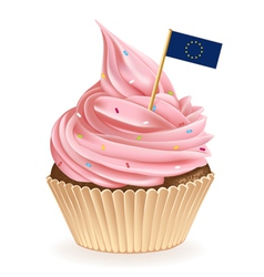 European Union Cupcake vector