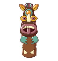 Exotic idol icon cartoon style vector