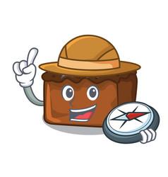 Explorer brownies mascot cartoon style vector