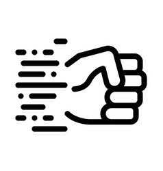 Fast fist hit icon outline vector