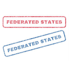 Federated states textile stamps vector