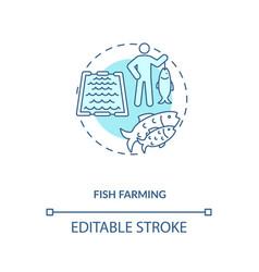 Fish farming concept icon vector