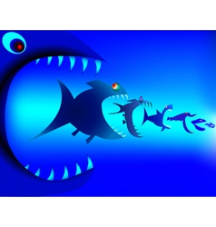 Fish predators vector image