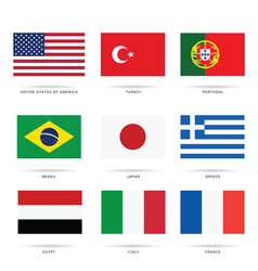 flag most popular set in color vector image