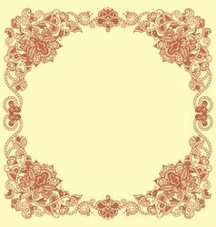 Floral vintage frames vector