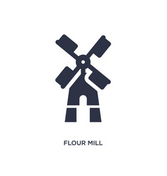 flour mill icon on white background simple vector image