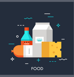 food flat concept vector image