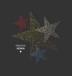 four color star dots vector image