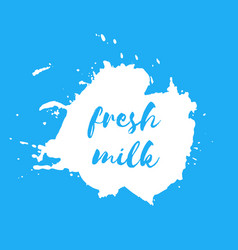fresh milk splash badge vector image