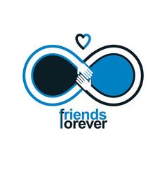 Friends forever everlasting friendship unusual vector