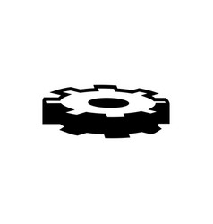 gearwheel gear icon vector image
