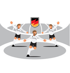 Germany player team celebration with badge vector