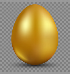 golden egg isolated on translucent background for vector image