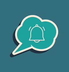 Green speech bubble with chat notification icon vector