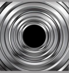 grey metallic circles abstract tech background vector image