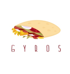 gyros shawarma doner kabob isolated design vector image