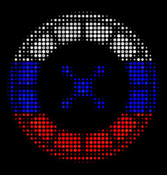 Halftone russian roulette icon vector