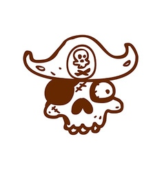 Hand Drawn Pirate Skull vector