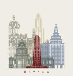 Havana v2 skyline poster vector