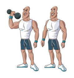 healthy men athletic muscular weight vector image vector image