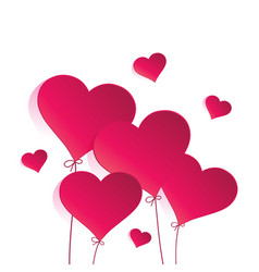 heart balloon on white background vector image