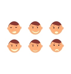 Human emotions Men faces on white background vector