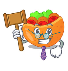 Judge pita bread filled with vegetable mascot vector