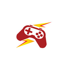 lightning and analog gaming master console gamer vector image