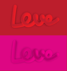 love lettering colorful neon figuresvalentines vector image