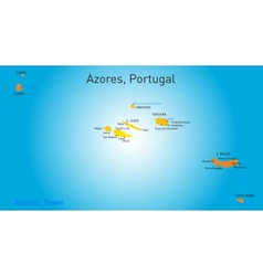 Map of azores vector