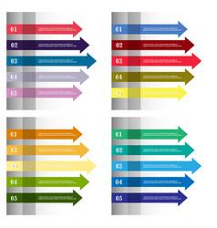 Modern strips infographics 10 options banner vector