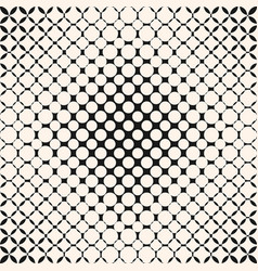Monochrome geometric halftone pattern with circles vector