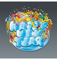 new year tag vector image