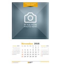 November 2018 wall calendar for 2018 year design vector