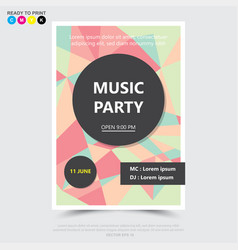 party music posterbrochureflyer design template vector image