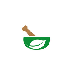 Pharmacy bio ayurveda recipe logo vector